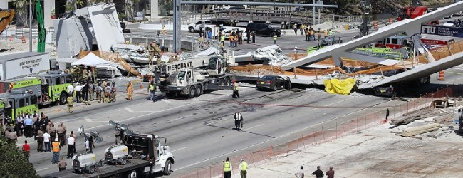 Miami: Puente en construcción se desplomó dejando varias personas muertas