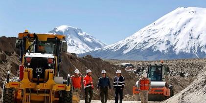 MOP avanza en mejoramiento de la Ruta Internacional 11 CH con Bolivia